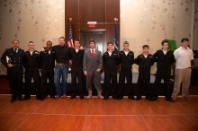 Chris Kyle and Jason Redman with Baton Rouge Chapter of the U.S. Sea Cadets
