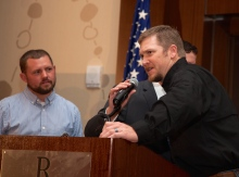 Chance Vaughn, decorated US Army Ranger from Denham Springs, LA (left) and Chris Kyle, decorated US Navy SEAL (right)